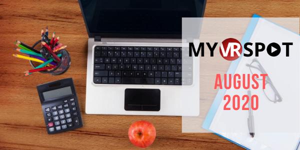 MyVRSpot's August 2020 Newsletter